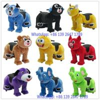 Quality Outdoor Playground Battery Coin Operated Electric Plush Animal Rides For Kids and Parent for sale