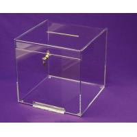 Quality OEM and ODM Design Acrylic Donation Box with Lock and Key for sale