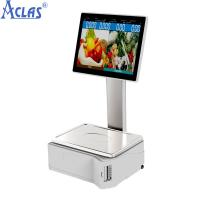 Quality ARM-based Touch Scale With Best Price,Retail POS scale,Fiscal Cash Register for sale