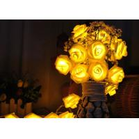 Quality Red / Warm White Battery Operated LED String Lights , Rose Flower String Lights for sale