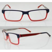 Quality Fashion Women Acetate Optical Frames, Red & Black Handmade Acetate Glasses Frames for sale