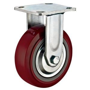 "Quality Steel Pressed 6""x 2""Industrial Fixed Rigid Heavy Duty Castor Wheels for sale"