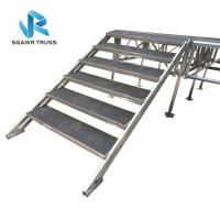 Quality Portable Folding Stage Equipment Aluminum Mobile Stage Platform With Stair Step for sale
