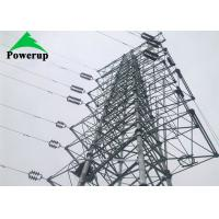China CO2 Shielded Arc Welding Metal Power Line Towers , Silver 220 Kv Transmission Line Towers on sale
