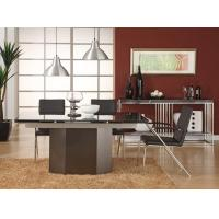 Quality Steel Natural Dark Marble Dining Tables / Luxury Office Furniture for sale