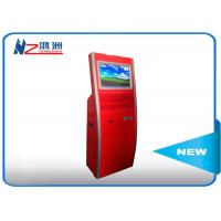 Buy cheap Multi function touch screen kiosk stand with WIFI / restaurant self service from wholesalers
