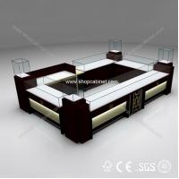 Buy Shopping Mall Jewelry Display Showcase Kiosk Design at wholesale prices