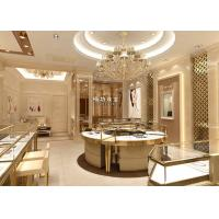 Buy Fully - Assembled Gold Metal Showroom Display Cases Customized 3D Design at wholesale prices