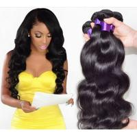 Quality Fashion 6A 100% Peruvian Virgin Hair Straight Peruvian Hair Bundles Black 18 Inch for sale