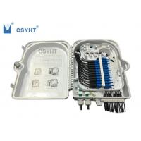 Quality 24FO fiber optic termination  FTTH box for outdoor pole mounted loaded PLC splitter for sale