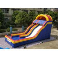 China 0.55mm PVC Tarpaulin Colorful Large Inflatable Dry Slide For Kids / Blow Up Water Slide on sale