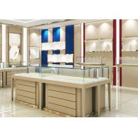 Quality High End Wood Gold Shop Furniture Jewelry Showroom Interior Design for sale