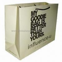 Quality Paper gift bag with offset printing, eco-friendly for sale