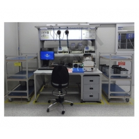 Quality Electronic Workstation GPS Repair Double Drawer ESD Workbench for sale