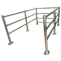 Quality Stainless Steel Crowd pedestrian control /Cheap metal guard rails tubular Removable Handrail for sale