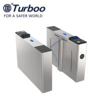 Quality E - Tickets Access Control Turnstile Gate 304SUS Flap Barrier R485 Dry Contact for sale