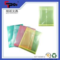 Quality Wholesale Stationery PP Transparent File Customized File Folder With String Closure for sale