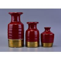 Quality Red Luxury Ceramic Aroma reed diffuser bottles bulk For Wedding Decoration for sale