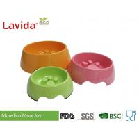 Buy cheap Custom Made Solid Color Melamine Pet Bowl , Pet Feeding Bowls With Logo And Print from wholesalers