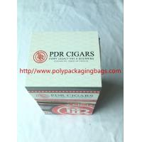 Quality Custom Cigar Humidor Bags / Cigar Wraps with Zipper and Window for sale