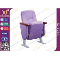 Quality Comfortable & Soft Auditorium Theater Seating With 60mm Armrest / Fully Coth Cover for sale