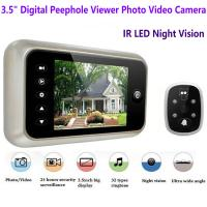 Quality 3.5 inch Screen Digital Door Peephole Viewer Camera 120 Degree Wide Angle Video Doorbell Phone Door Eye IR Night Vision for sale