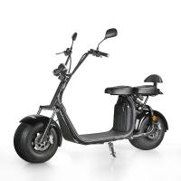 Quality EcoRider 18inch fat tire 1500w 60v 12ah 2 Wheel Electric Scooter with double seat and EEC Certificate for sale