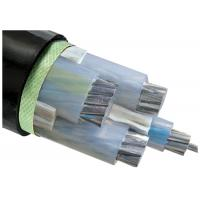 China 3 Plus 1 Core XLPE Insulated Cable Low Voltage Black Outer Sheath on sale