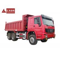 China 6x6 All Wheel Drive Heavy Duty Dump Truck Rear Tipping Type In Red Color on sale