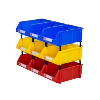 Quality Warehouse spare parts storage solution plastic stackable bins for sale