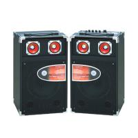 Quality Single Pro Audio Portable Bluetooth PA Speakers With Led Tweeter / SD Card for sale