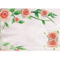 Buy Green Healthy Livable Bamboo Fiber Board / Flower Rose Fiber Wall Panels Easy at wholesale prices