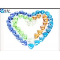 Quality Crystal Heart Shape Glass Fish Aquarium Gravel House Fish Tank Decoration Stone for sale