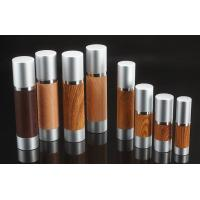Quality 1oz 1.65oz  3.5oz 15ml 30ml 50ml 80ml 100ml 120ml  wooden cosmetic airless bottle with aluminum cap for sale