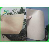 Quality 35GSM MG Food Grade Paper Roll Virgin Brown Kraft Paper For Bread Paper Bag for sale