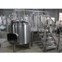 Quality 1BBL Commercial Beer Making Equipment , Draught Beer Machine Flat Bottom for sale
