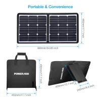 Quality 50 Watt 18 Volt Foldable Solar Panel Charger High Safely FCC RoHS Certified for sale