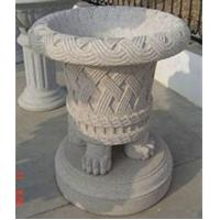 Quality Classical Grey Granite Flowerpots, Delicate Garden Stone for sale
