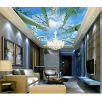 Quality Hotel Room Integrated Ceiling System Bamboo Fiber Sky And Tree Pattern for sale