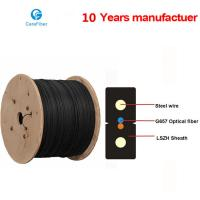 Quality One Core Indoor Drop Cable Bow-type GJXH Steel Wire Optical Fiber Cable for sale