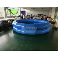 Quality Children Indoor And Outdoor Water Playing Pool 2 Ring Round Inflatable Swim Pool for sale