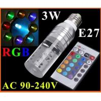 Quality E27 3W RGB 16 Colors Remote Control Crystal LED Light Bulb for sale