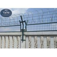 Quality Military Field Silver Razor Blade Wire Fence 450mm 500mm Outside Diameter for sale