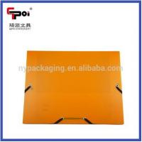 Buy Elastic Solid Color PP File Customized Folder Box Document Box Made In China at wholesale prices