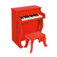 Quality Baby Upright Mini 25 Key Antique Toy Piano Red / Black For Home U25 for sale