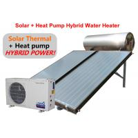 Quality Black / White Solar Hybrid Water Heater 22 MM Connection Type Easy Installation for sale