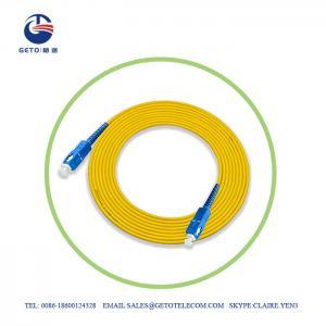 Quality UPC SC UPC 9/125 Single Mode 3m Optic Fiber Patch Cord Simplex for sale