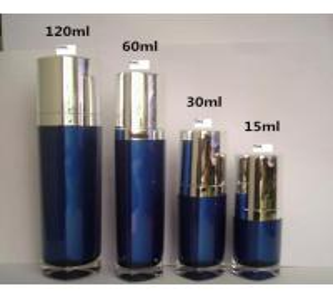 Quality 15ML 30MKL 60ML 120ML plastic triangle shape cosmetic acrylic bottle for sale