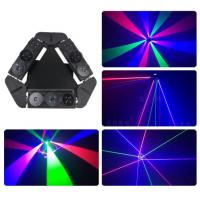 Quality Mini Multicolor Laser Led Spider Beam Moving Head Light Air Cooling With Black Shell Color for sale
