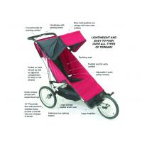 Reclining seat Baby Jogger City Mini Single Stroller in Read